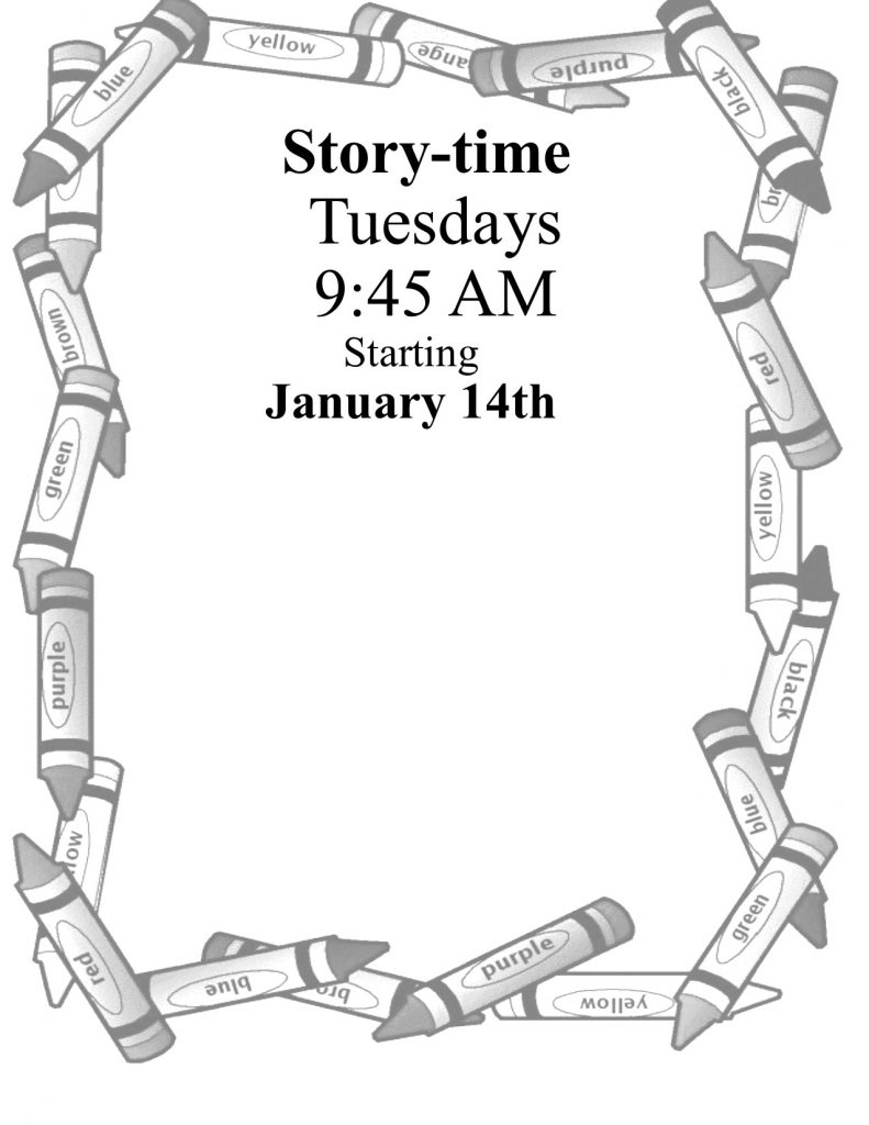 Click here for Story-time dates